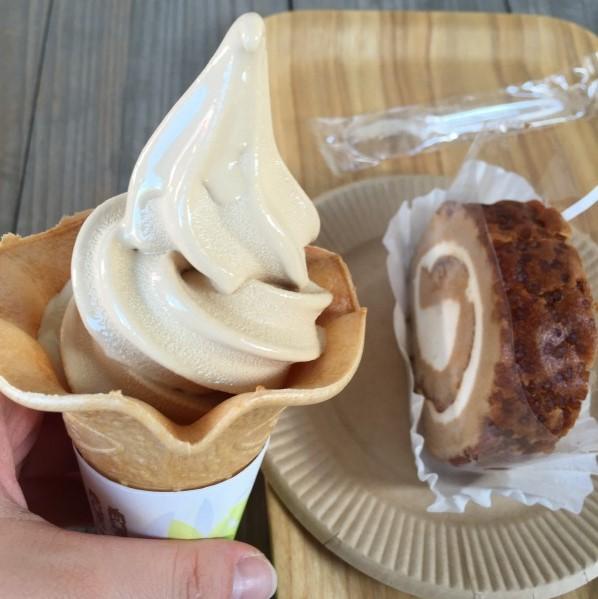 ヤマサ銚子工場_醤油ソフト&ロールケーキ