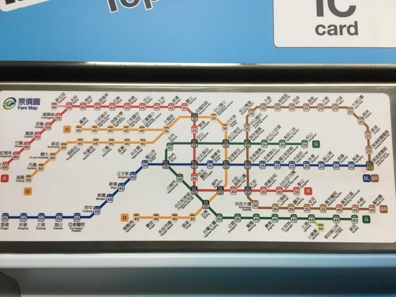台北_地下鉄MRT_路線図