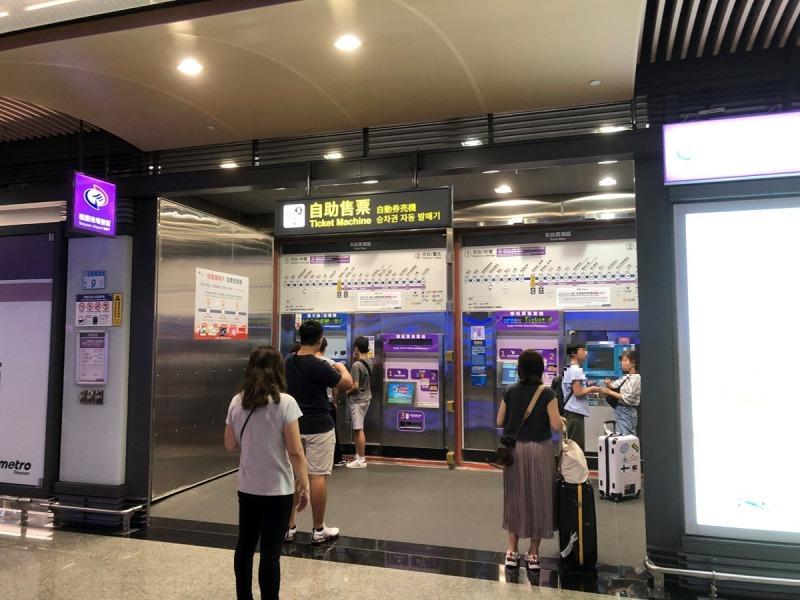 桃園空港MRT改札脇のEASY CARD券売機6