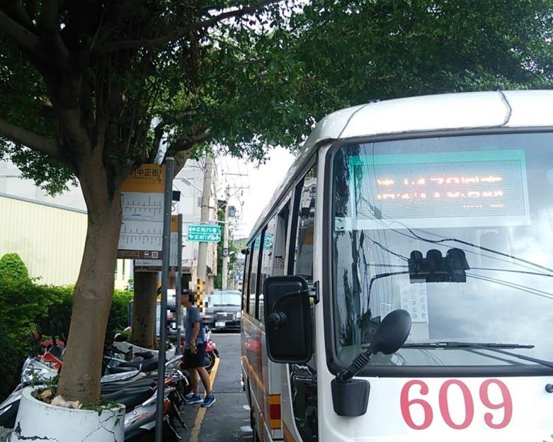 台湾_高美湿地行バス