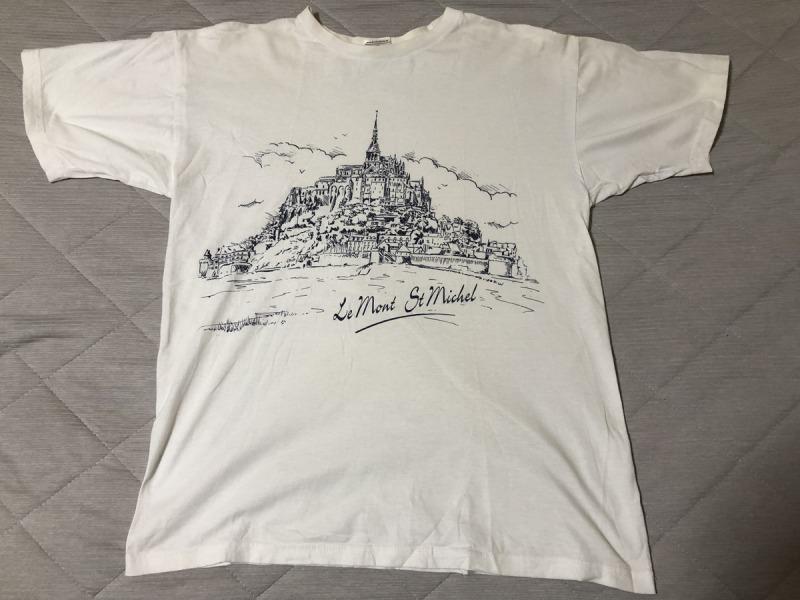 フランス_モンサンミッシェル_Tシャツ