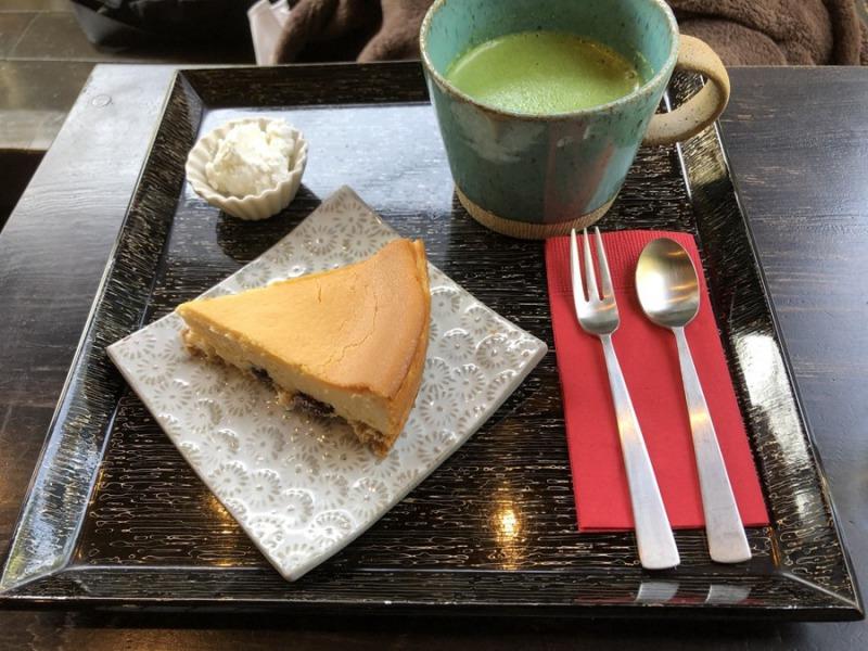 酒庵空_shuan KU café_酒蔵の大吟醸チーズケーキ(セット)