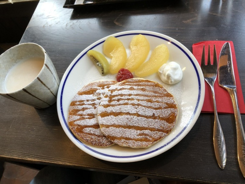 酒庵空_shuan KU café_酒蔵のパンケーキケーキ(セット)