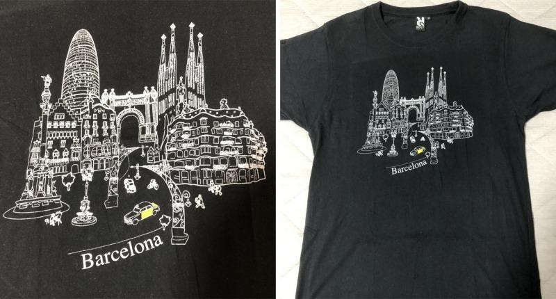 スペイン_バルセロナ_Tシャツ