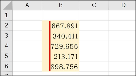 Excel_数字の桁_ズレ1
