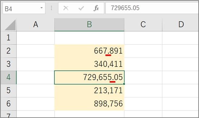 Excel_数字の桁_ズレ4